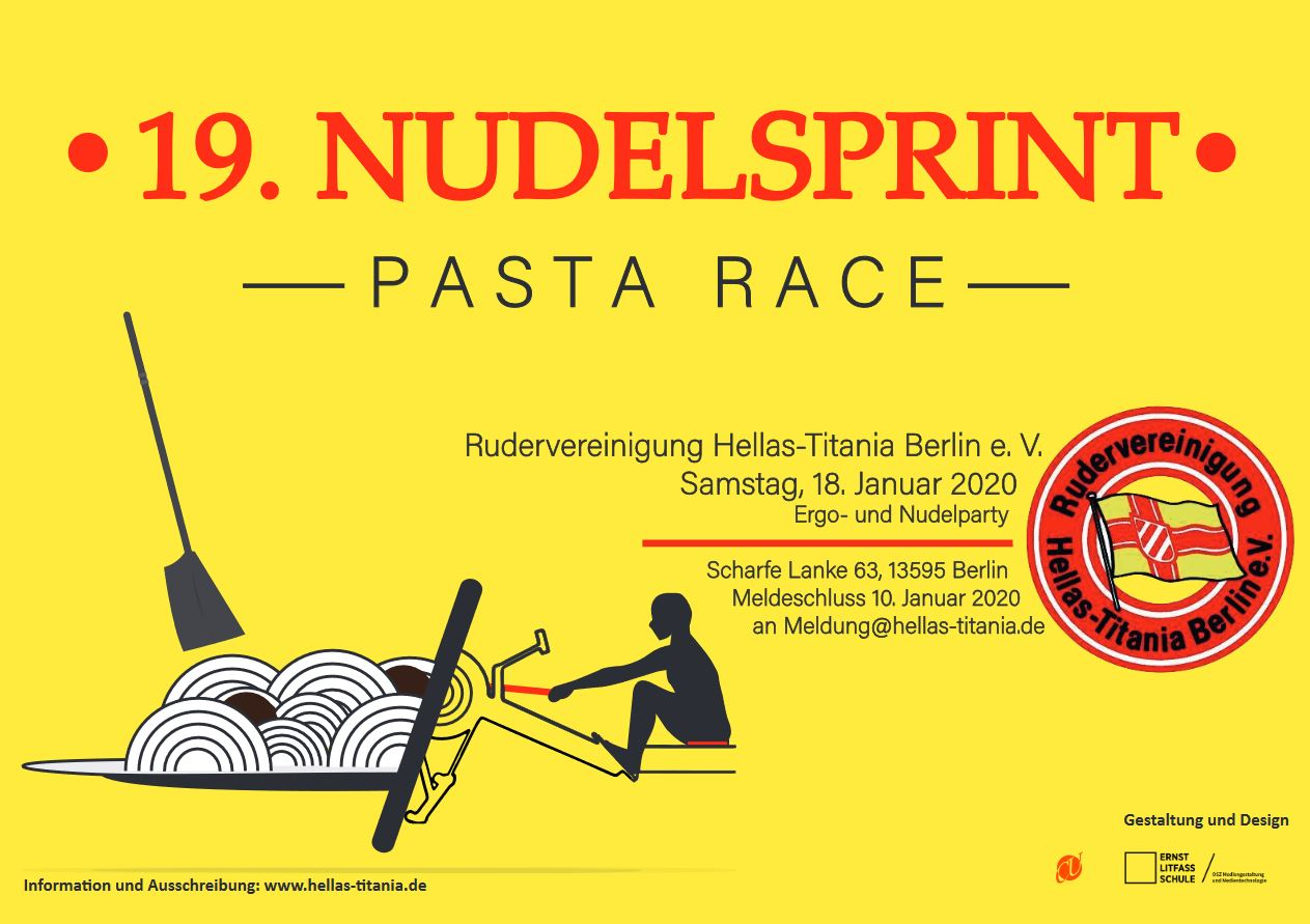 Nudelsprint Plakat